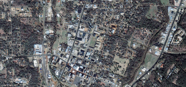 Nacogdoches town center.  Space Shuttle Columbia Debris.